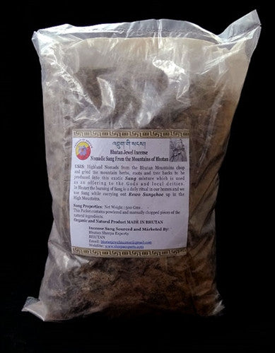 Bhutan Jewel House Riwo Sangch - Mixed Powder & Loose Twigs - 500 gms