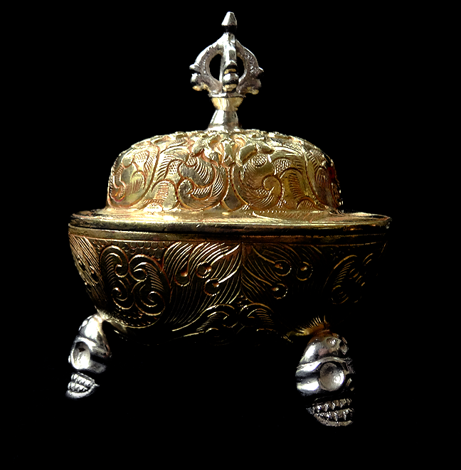 Fine Kapala - Fully Gilded with Gold and Silver