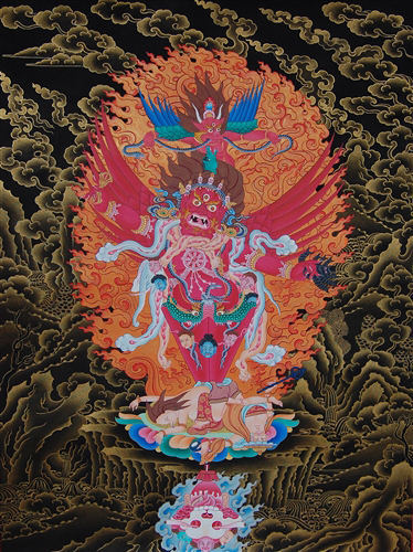 Masterpiece Guru Dragpo Kilaya Thangka