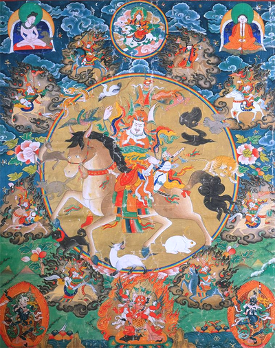 King Gesar Thangka Painting ~  Fine Art Giclee Print
