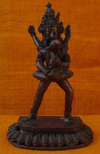 Antique Statue of Chakrasamvara or Korlo Demchog (Yab-Yum) - 19th C