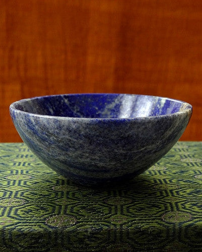 Natural Lapis Lazuli Gemstone Bowl - 74 mm
