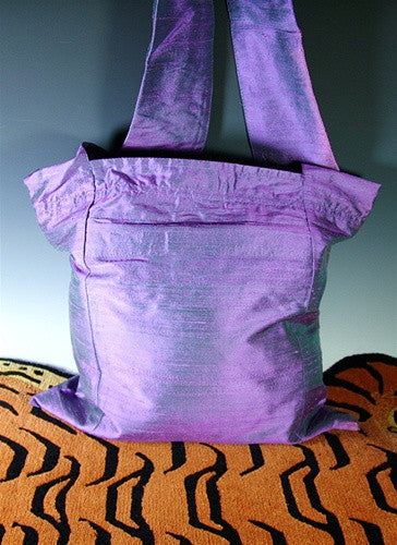 Fine Silk Sangha Bag - Shot Lilac