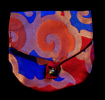 Small Brocade Mala Bag with button