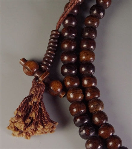 Dark Bone Mala with Bone Bell & Vajra Counters