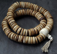 Extra Large Disc Bead Bone Mala - 21mm