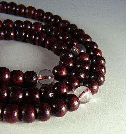 Rosewood Mala with crystal