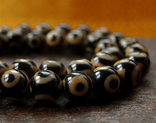 Agate Eye dZi Bead Mala - 6mm