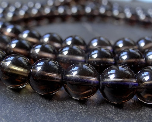 Finest Smoky Quartz Mala - 8mm