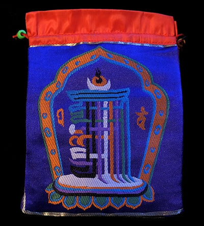 Kalachakra Design Mala Bag - Blue