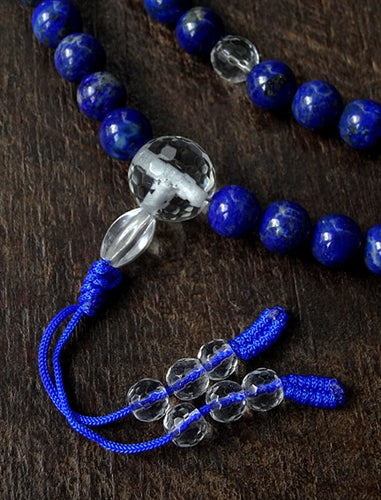 Lapis Lazuli & Faceted Crystal Mala