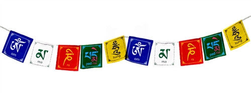 Om Mani Peme Hung Prayer Flags - 10 Flags in each set