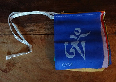 Om Mani Peme Hung Prayer Flags - Smallest 10 Flag Set