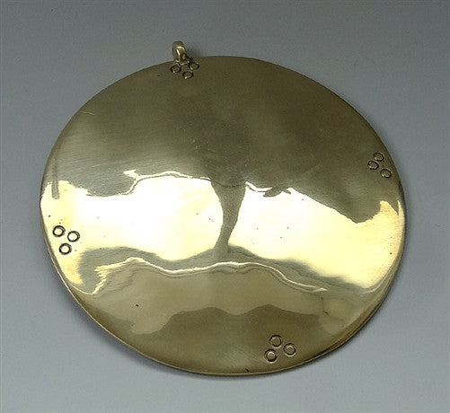 Extra Large Tibetan Melong - Brass - 5.75 inches