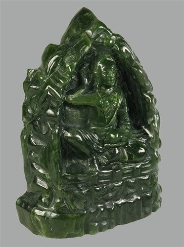 Rare Jade Milarepa Cave Carving - 5 inches