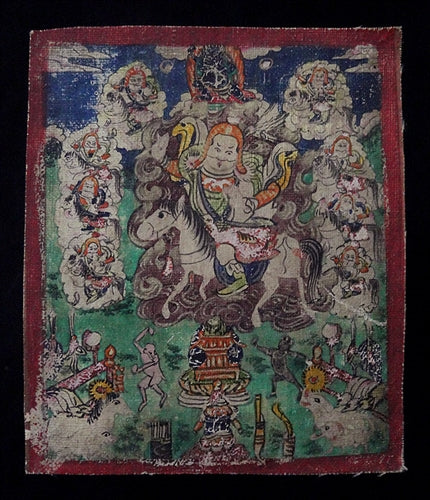 Antique Painting of the Nine Drala Brothers - 19th C