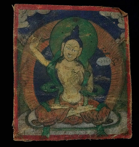 Antique Miniature Painting of Manjushri