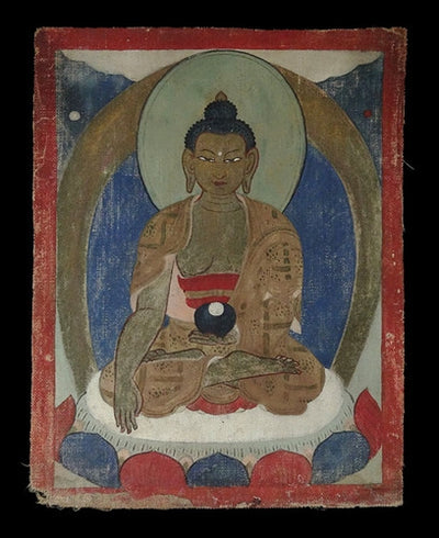 Antique Miniature Painting of Buddha Shakyamuni