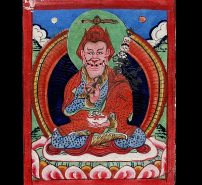 Antique Miniature Painting of Guru Rinpoche