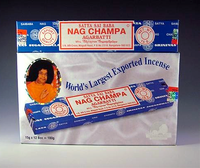 Original Sai Baba Nag Champa Incense - Box of 12 Packs (15g per pack)