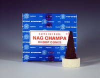 Sai Baba Nag Champa Temple Incense Dhoop Cones