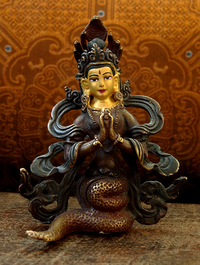 Copper Naga Statue - Hand Crafted in Nepal
