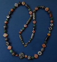 Large Ancient Pyu or Tircul Stone Bead Necklace