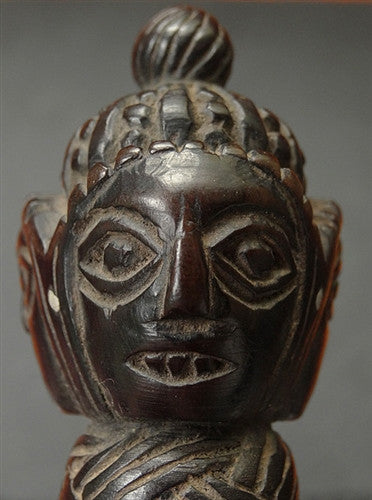 Antique Nepalese Wooden Shamanic Phurba - 18th/19th C