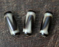 Three Matched New Tasso dZi beads
