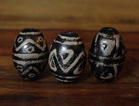 Group of Three New dZi Beads