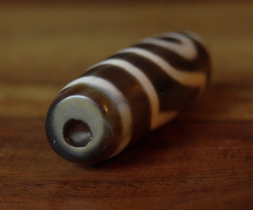 New Two Eyed dZi Bead - 37mm