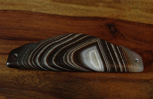 Fine Wing Shaped Banded Agate Pendant - 72.5mm