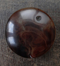 Huge New Luk Mik dZi or Tabular Eye bead - 49.5mm