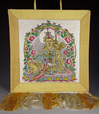 Silk Hand Painted Guru Rinpoche Wall Hanging