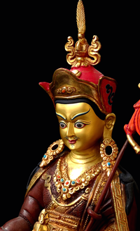 Guru Rinpoche Statue or Rupa - 8 inches