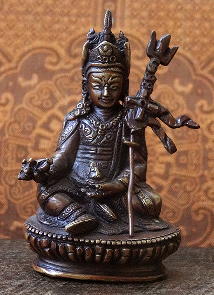 Small Copper Statue of Guru Rinpoche - 3.7 inches
