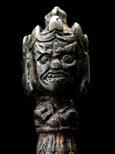 Old Ritual Iron Vajrakilaya Phurba - 5.4 inches