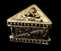 Heavy Brass Phurba Stand with Skull Design