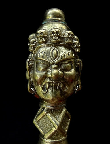 Rare Quality 15th C style Two Metal Phurba - 12.5 inches