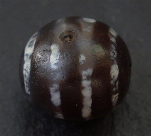 Rare Ancient Four Striped Decorated Agate - 16.65mm