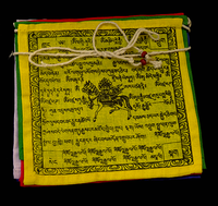 Finest Quality Prayer Flag Gift Set - Smallest Size - Windhorse - Printed on Cotton