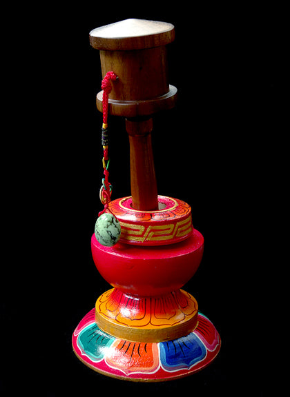 Hand Painted Prayer Wheel Stand (not wheel)