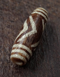 Ancient Bird/Chevron Pumtek Bead - 32mm