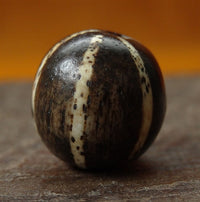 Large Authentic Ancient Six Stripe Pumtek Stone Bead - 17mm