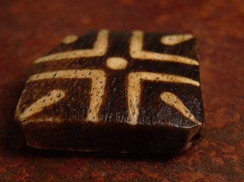 Large Antique Tabular Pumtek Stone Bead - 29mm