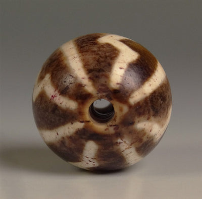 Ancient Lightning Bolt Pumtek Bead - 15 mm