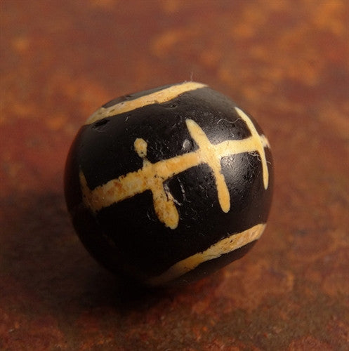 Ancient Pyu/Tircul Stone Bead - Sun Design