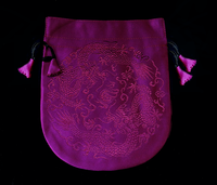 Finest Silk Mala Bag - Purple Dragons