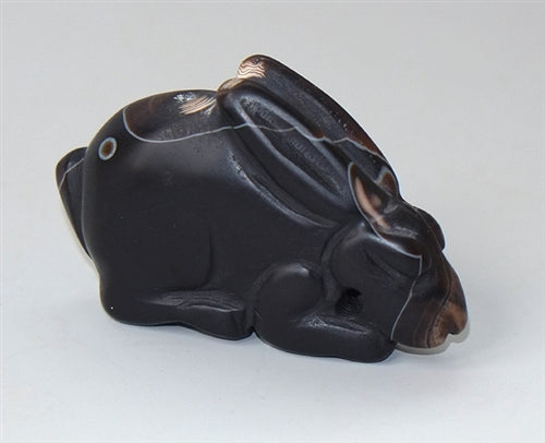 Carved Agate Rabbit Pendant