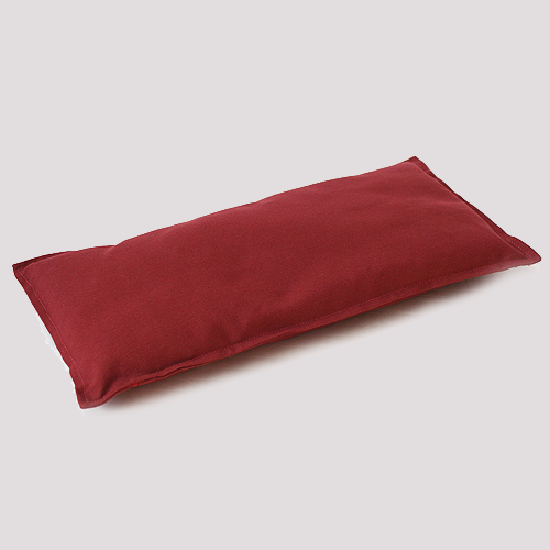 Meditation Bench Cushion Zen Red Fleece Wool